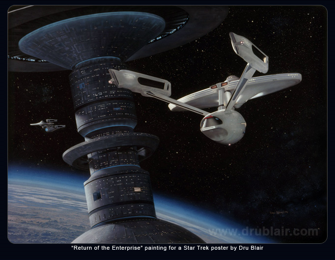 Return of the Enterprise painting